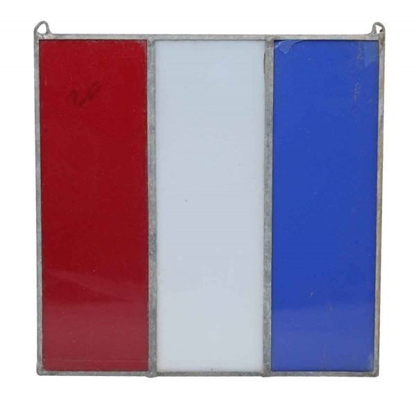 Famous Building Artifacts - Red White & Blue JFK Glass Decoration