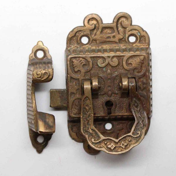 Ice Box Hardware - Heavy Bronze Ornate Ice Box Lock