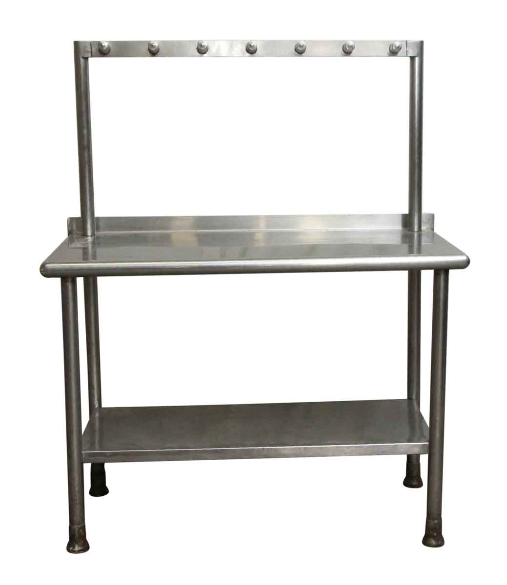 Commercial Stainless Steel Kitchen Table with Hanging Rack