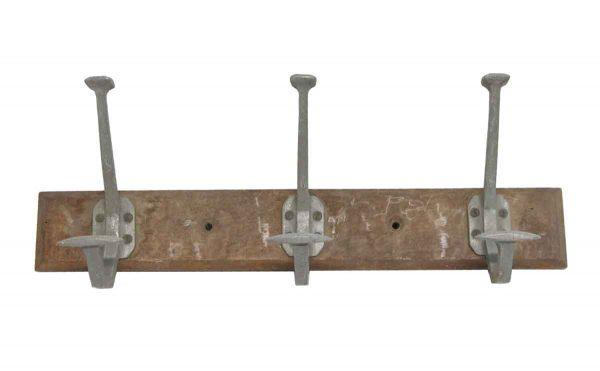 Racks - 3 Aluminum Hooks on Wooden Plank