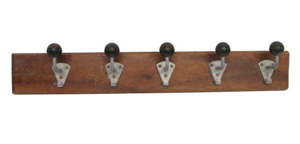 Racks - European Aluminum & Black Ball Hooks on Plank