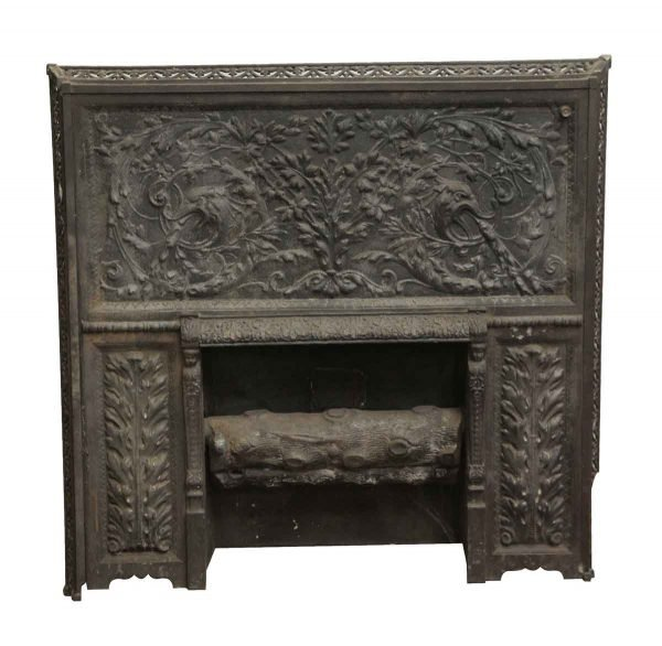 Screens & Covers - Cast Iron Ornate Fireplace Insert
