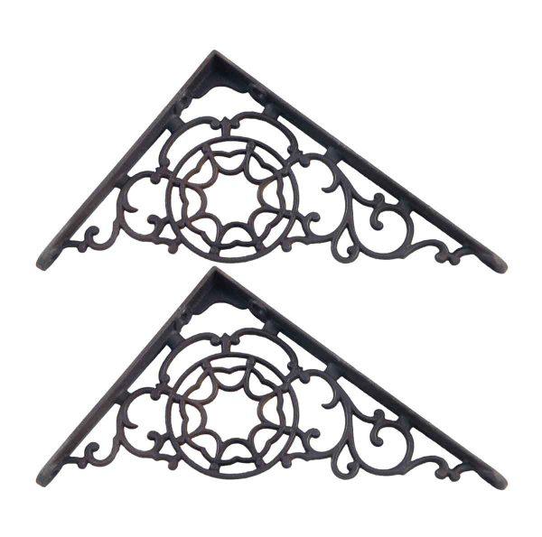 Shelf & Sign Brackets - Antique Ornate Cast Iron Victorian Shelf Brackets
