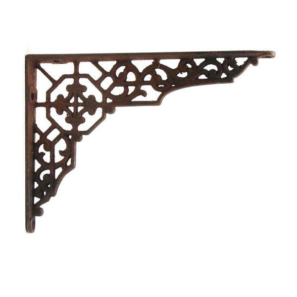 Shelf & Sign Brackets - Rusted Decorative Iron Bracket