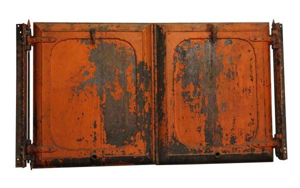 Specialty Doors - Industrial Orange Cast Iron Doors