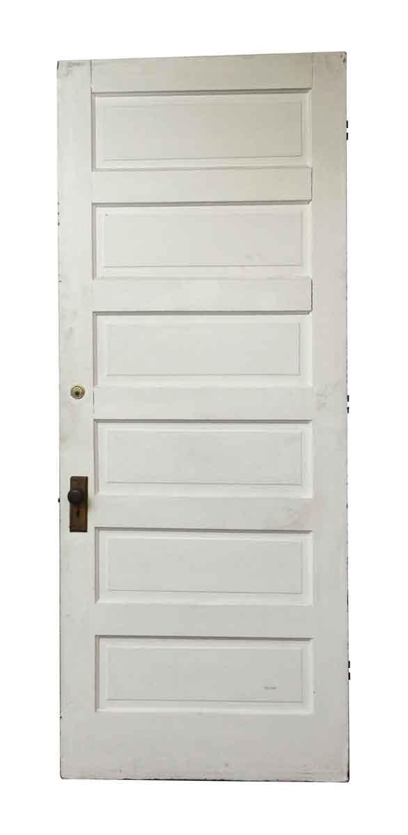 Standard Doors - Salvaged Wooden White & Brown Door with 6 Panels