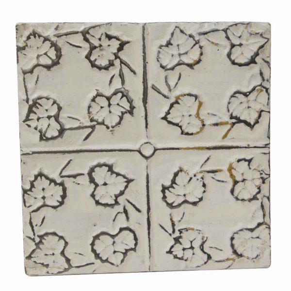 Tin Panels - 4 Leaf White Antique Tin Panel