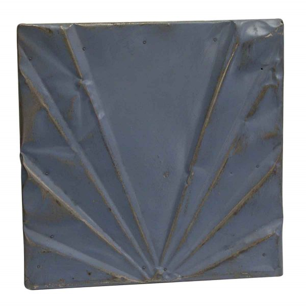 Tin Panels - Blue Art Deco Antique Tin Panel