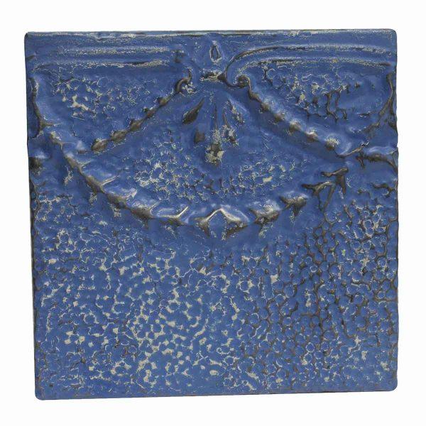 Tin Panels - Bright Blue Decorative Antique Tin Panel