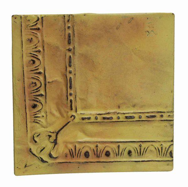 Tin Panels - Corner Antique Yellow Tin Panel