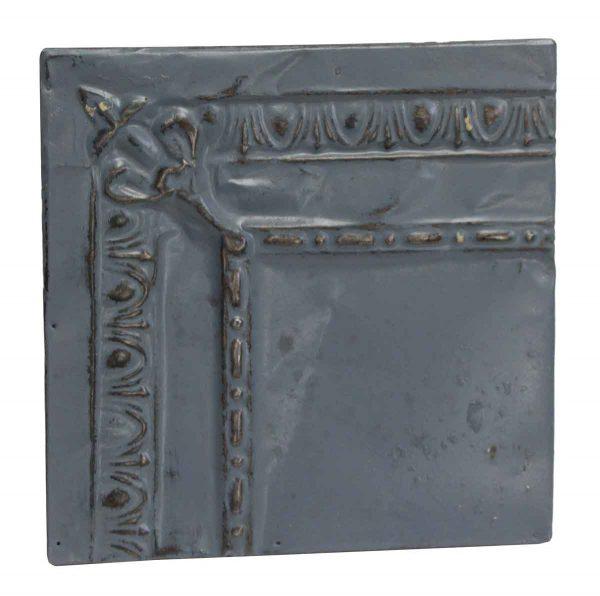 Tin Panels - Corner Denim Blue Antique Tin panel