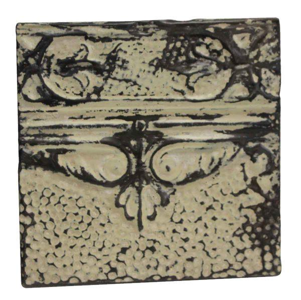 Tin Panels - Cream & Black Antique Tin Panel