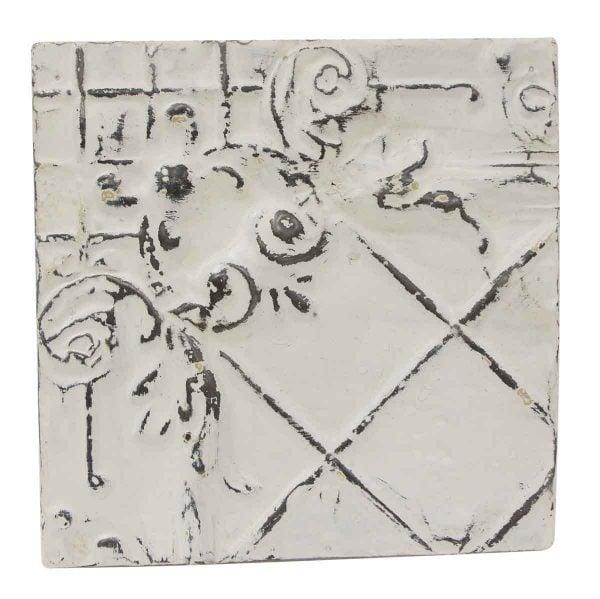 Tin Panels - Decorative Corner White Tin Panel