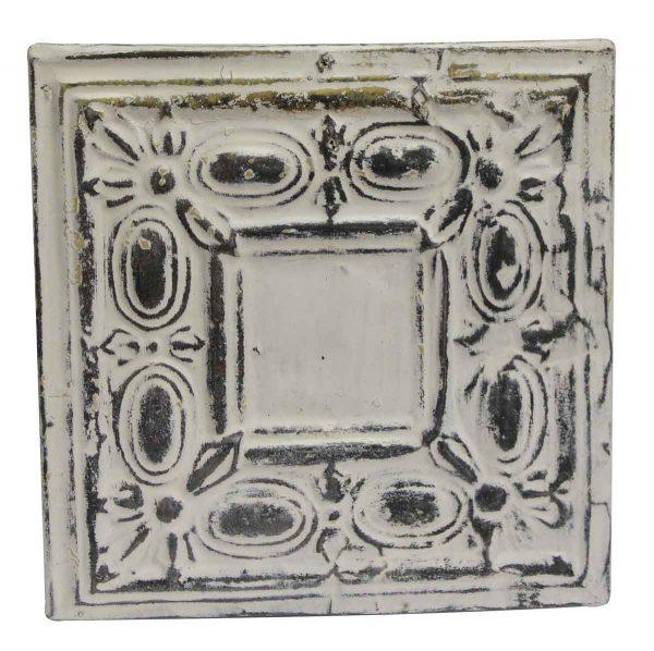 Tin Panels - Decorative White & Gray Antique Tin Panel