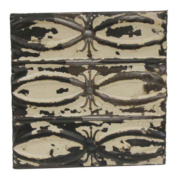 Tin Panels - Distressed Beige & Black Fish Tin Panel