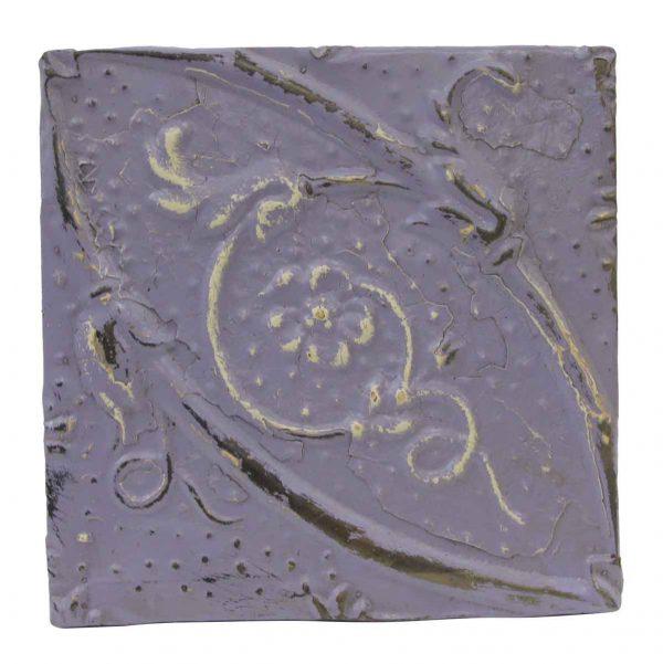 Tin Panels - Floral Lilac Antique Tin Panel