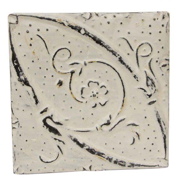 Tin Panels - Floral Swirl White Antique Tin Panel