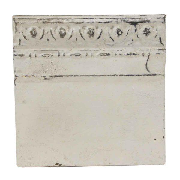 Tin Panels - White Egg & Dart Border Antique Tin Panel