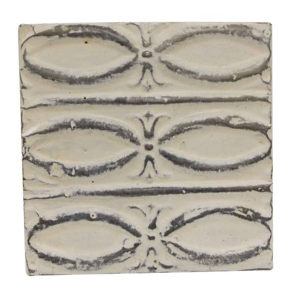 Tin Panels - White & Gray Fish Pattern Antique Tin Panel