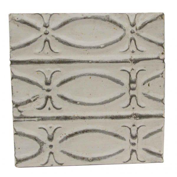 Tin Panels - White & Silver Fish Pattern Tin Panel