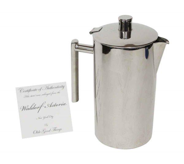 Waldorf Astoria - Waldorf Astoria Arthur Knapp Brass Beverage Pitcher