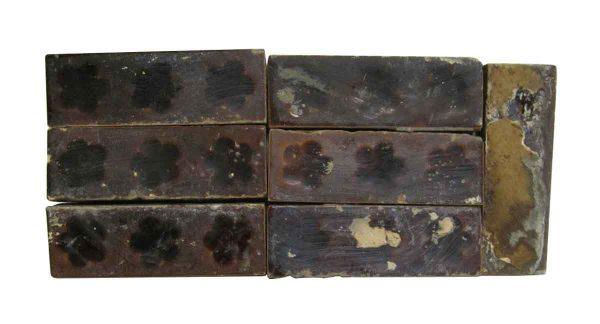 Wall Tiles - Antique Brown 4.375 in. Floral Tile Set