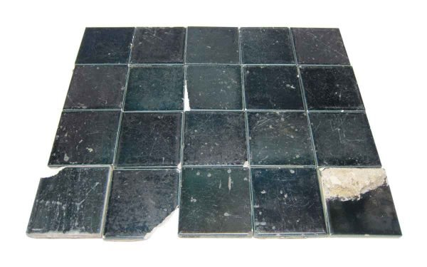 Wall Tiles - Antique Dark Teal 3 in. Square Tiles