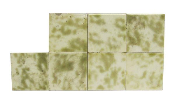 Wall Tiles - Antique Green & White 3 in. Square Tiles