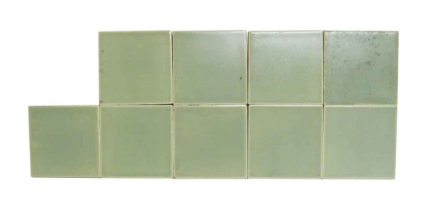Wall Tiles - Antique Mint Green 3 in. Square Tile Set