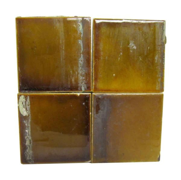 Wall Tiles - Antique Olive Brown 3 in. Square Tile Set