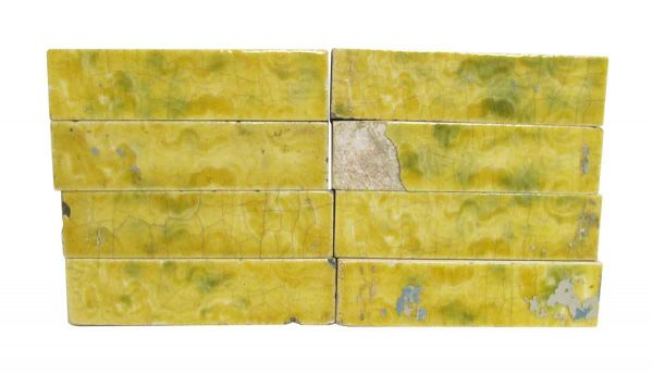 Wall Tiles - Antique Yellow & Green 4.25 in. Hearth Tile Set