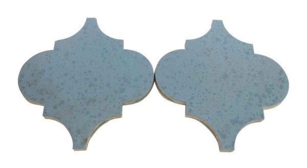 Wall Tiles - Set of 15 Blue Arabesque Tiles
