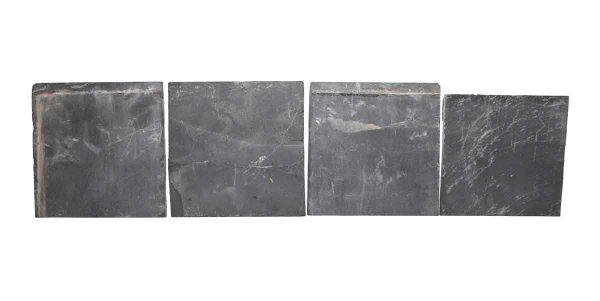 Wall Tiles - Set of Seven Slate Matte Black 6 in. Square Tiles
