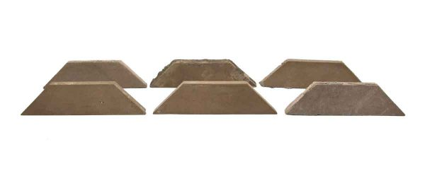 Wall Tiles - Set of Six Trapezoid Tan Tiles