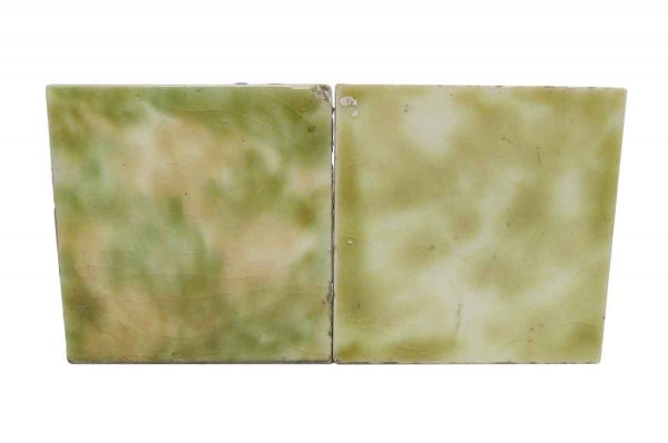 Wall Tiles - Yellow White & Green 2.125 in. Square Tiles