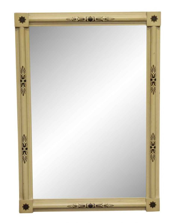 Antique Mirrors - French Light Yellow Framed Mirror