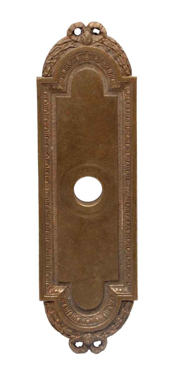 Back Plates - 6.75 in. Cast Brass Victorian Door Back Plate