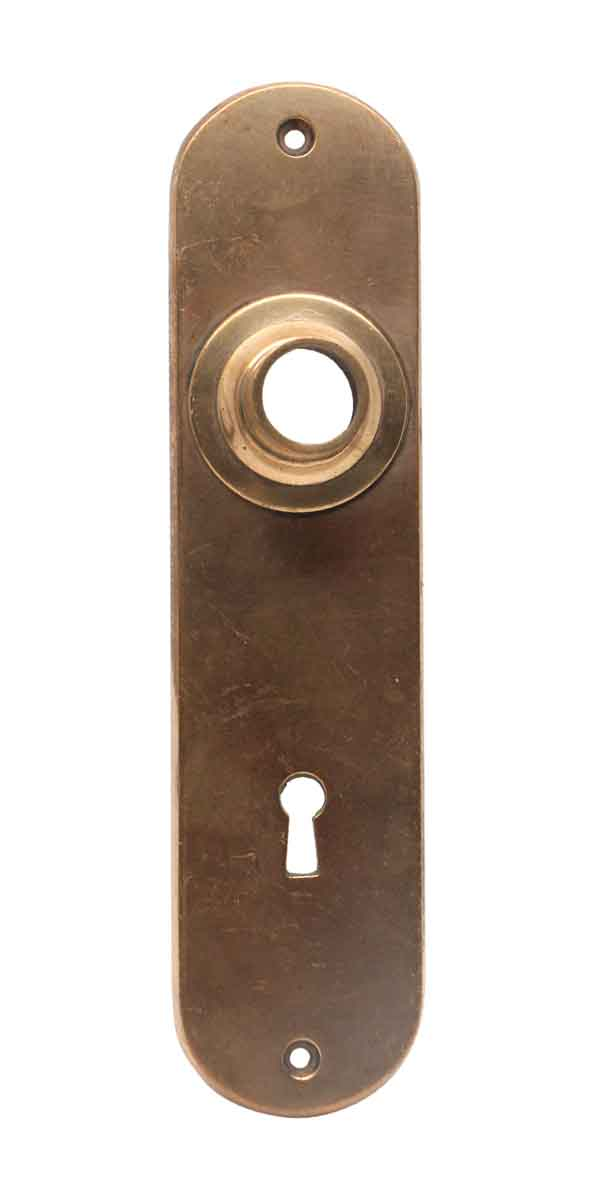 Back Plates - 7 in. Cast Brass Traditional Keyhole Door Back Plate