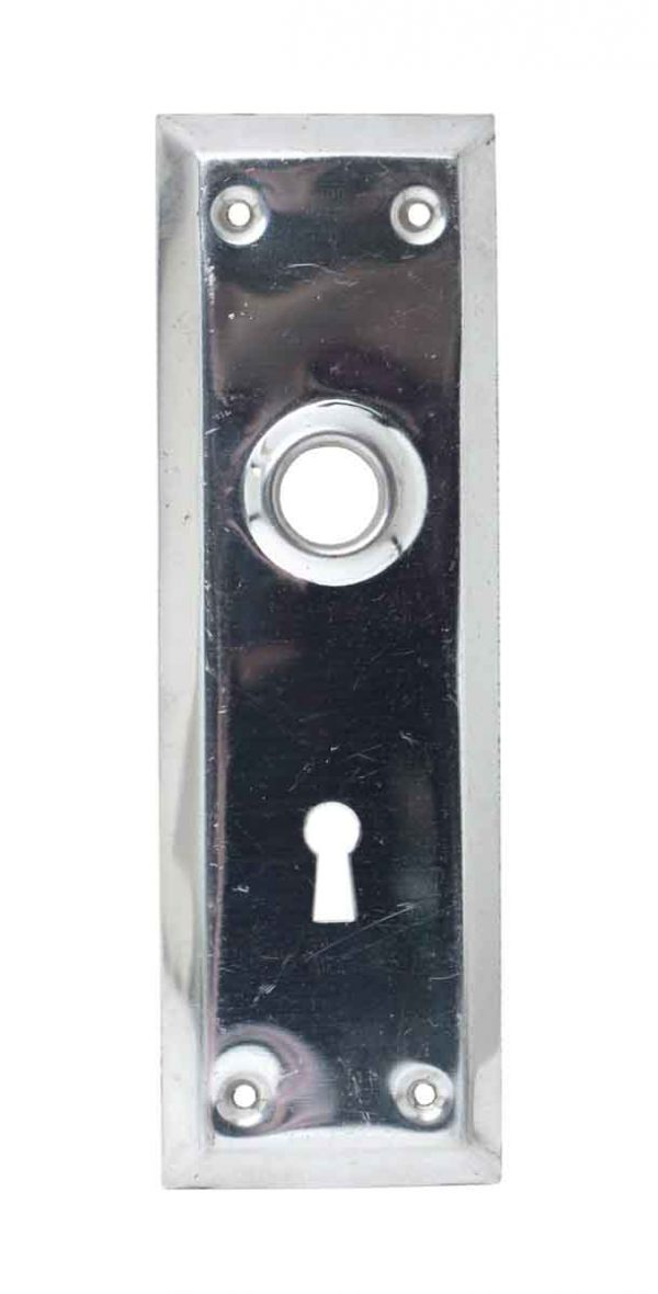 Back Plates - 7.25 in. Chrome Keyhole Door Classic Back Plate