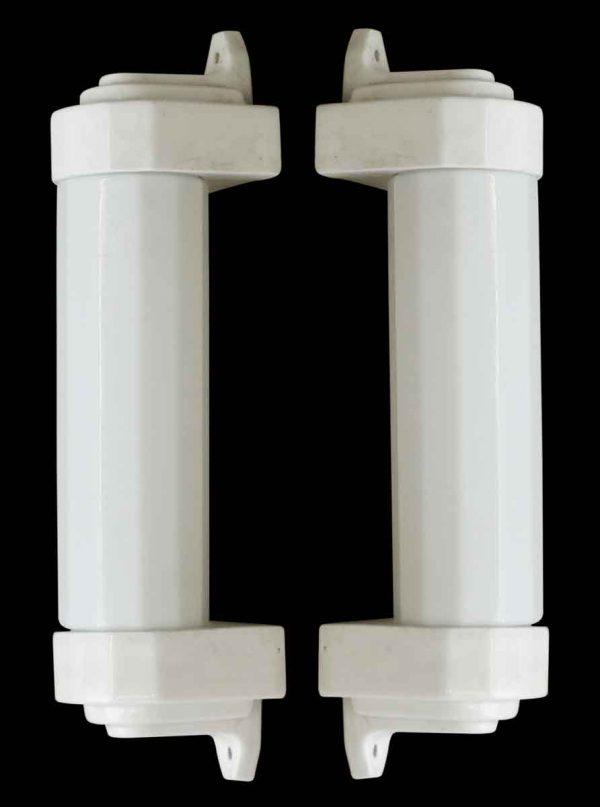 Bathroom - Vintage Art Deco Porcelain & Milk Glass Bathroom Sconces