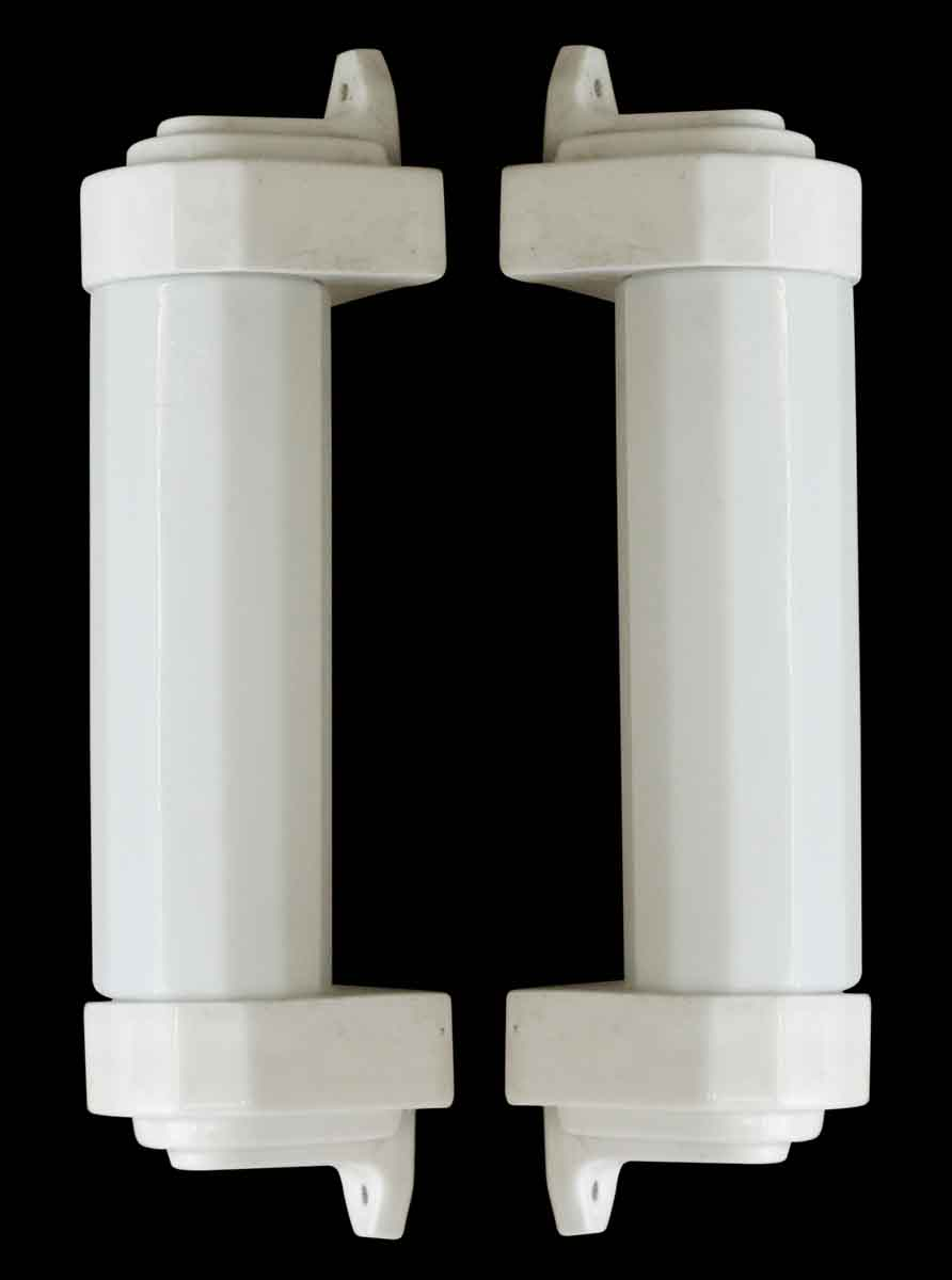 Vintage Art Deco Porcelain Amp Milk Glass Bathroom Sconces
