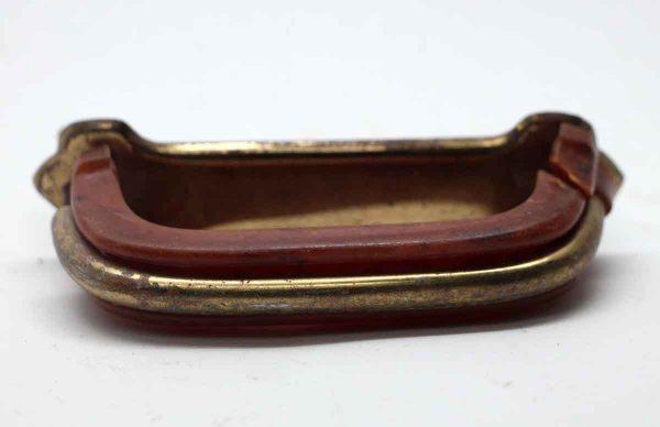 Cabinet & Furniture Pulls - Brown Bakelite & Brass Drawer Pull