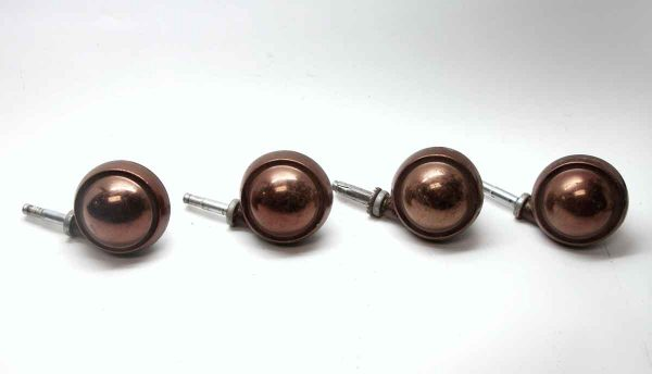 Casters - Set of 4 Copper Plated Caster Wheels