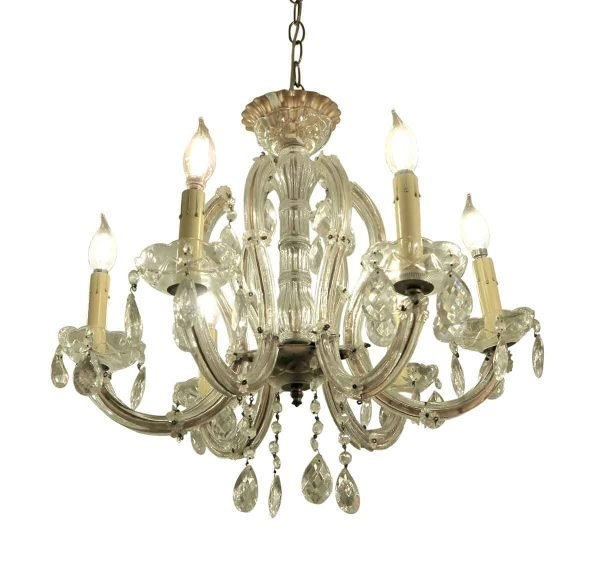 Chandeliers - Antique Marie Therese Crystal Chandelier