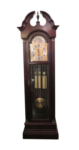 Mahogany Herschede Grandfather Clock