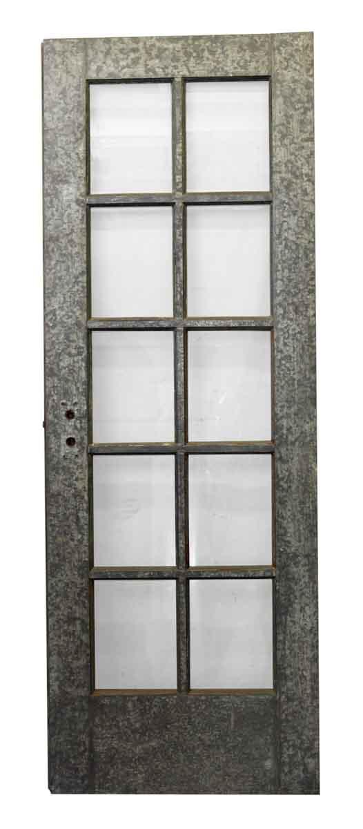 Commercial Doors - Galvanized Steel Ten Glass Panel Door