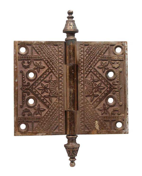 Door Hinges - 5 x 6 Bronze Eastlake Door Hinge