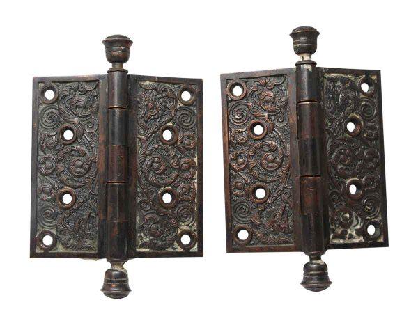 Door Hinges - Pair of Bronze 5 x 5 Columbian Left Hand Door Hinges