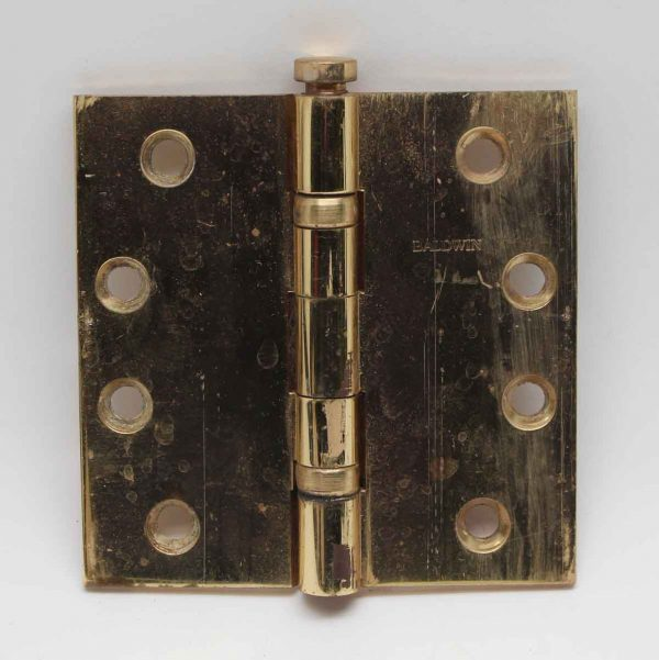 Door Hinges - Vintage Baldwin Polished Brass Hinge