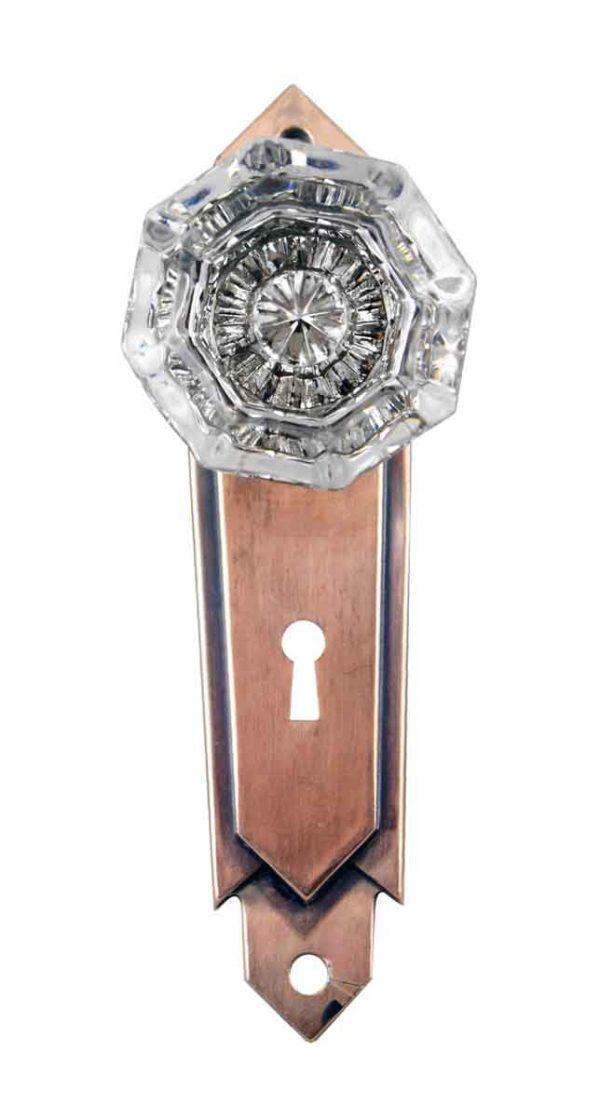 Door Knob Sets - Art Deco Glass Door Knob Set